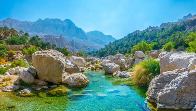 Oman; Wadi Tiwi Lagune