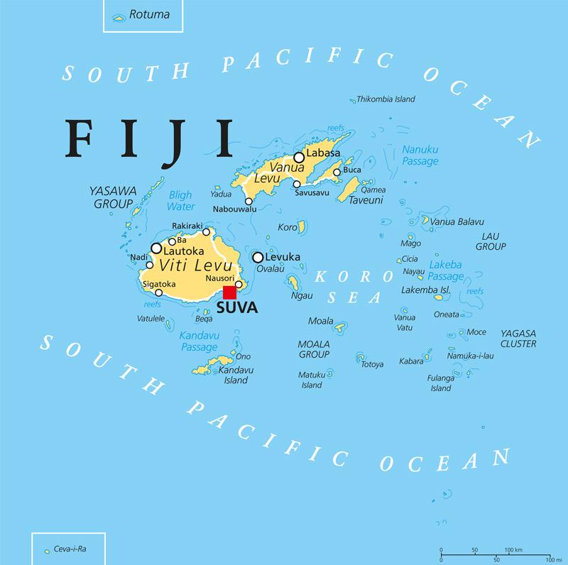 Fidschi-Inseln Karte