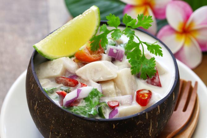 traditionelle Küche der Fidschis
