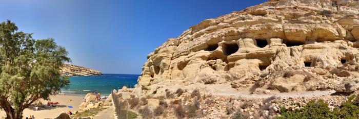 Matala und die Wohnhöhlen
